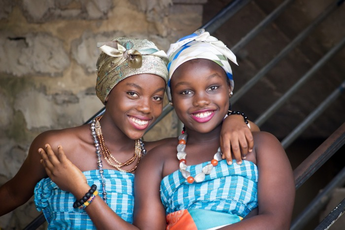 Young african girls